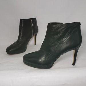 Michael Michael Kors Black Leather Ankle Booties